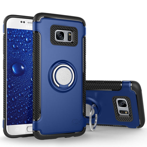 Galaxy S7 Case, Cellularvilla [Heavy Duty] High Impact Dual Layer Protective Case [Shockproof] Built-in 360 Degree Rotating Ring Holder Kickstand Cover For Samsung Galaxy S7