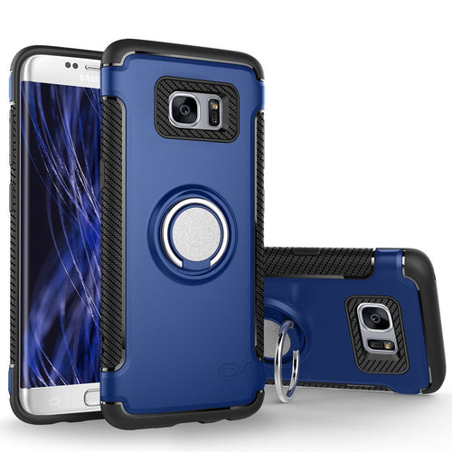 Galaxy S7 Edge Case, Cellularvilla [Slim] Heavy Duty Dual Layer Protective Case [Shockproof] Built-in 360 Degree Rotating Ring Holder Kickstand Cover For Samsung Galaxy S7 Edge