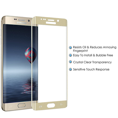 Galaxy S6 Edge Screen Protector, Cellularvilla 3D Full Screen Tempered Glass Protector with Curved Edge [Anti Scratch] Cover Edge to Edge Screen Glass Guard For Samsung Galaxy S6 Edge