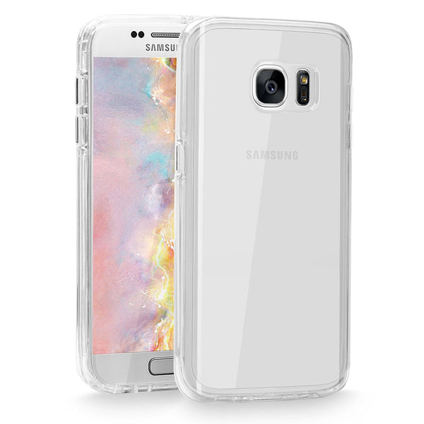 Galaxy S7 Case, Cellularvilla [Slim Fit] [Anti-Scratch] Ultra Slim Hybrid Transparent PC Back TPU Bumper [Shock Absorption] Raised Bezels Protective Case Cover for Samsung Galaxy S7