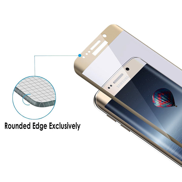 Galaxy S6 Edge Plus Screen Protector, Cellularvilla [Anti Scratch] 3D Full Screen Curved Edge 9H Tempered Glass Protector Cover Edge to Edge Screen For Samsung Galaxy S6 Edge Plus