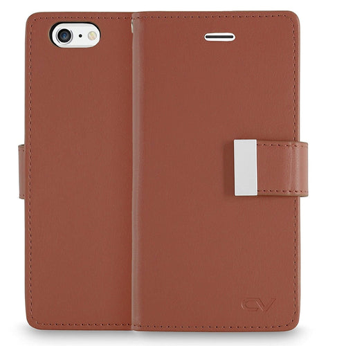 iPhone 6 Case / iPhone 6S Case, Cellularvilla [Slim Fit] Premium PU Leather Flip Wallet Case [5 Card Slot] [Pocket] Book Style Folio Protective Shell Cover For Apple iPhone 6 / 6S 4.7 Inch