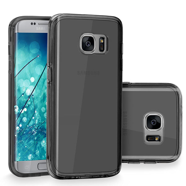Galaxy S7 Edge Case, Cellularvilla [Slim Fit] [Raised Bezels] Ultra Hybrid Hard Anti-Scratch Transparent Back Protective Case with Shockproof Soft TPU Bumper Cover For Samsung Galaxy S7 Edge