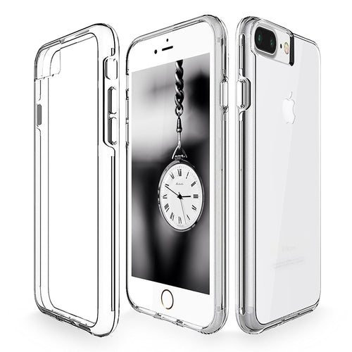 iPhone 7 Plus Case, Cellularvilla [Raised Bezels] Ultra Hybrid Hard Anti-Scratch Transparent Back Protective Case with Shockproof Soft TPU Bumper Cover For Apple iPhone 7 Plus 5.5 Inch