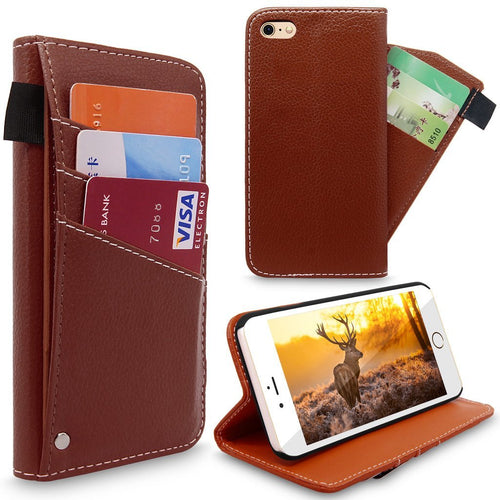iPhone 6 Case / iPhone 6S Case, Cellularvilla [Slim Fit] [Stand Feature] Premium PU Leather Flip Wallet Case with Slider Card Holder Protective Cover For Apple iPhone 6 / 6S 4.7 inch
