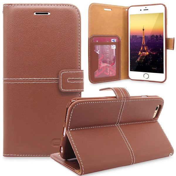 iPhone 6 Plus / 6S Plus Case, Cellularvilla [Stand Feature] [Slim Fit] Wallet Case Premium PU Leather [Wallet] [Card Slot] Flip Cover For Apple iPhone 6 Plus / iPhone 6S Plus 5.5 inch