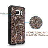 S7 Edge Case, Galaxy S7 Edge case, Cellularvilla [Slim Fit] Hybrid Luxury Bling Jewel Rock Crystal Rhinestone Diamond Case [Shockproof] Protective Shell Cover for Samsung Galaxy S7 Edge