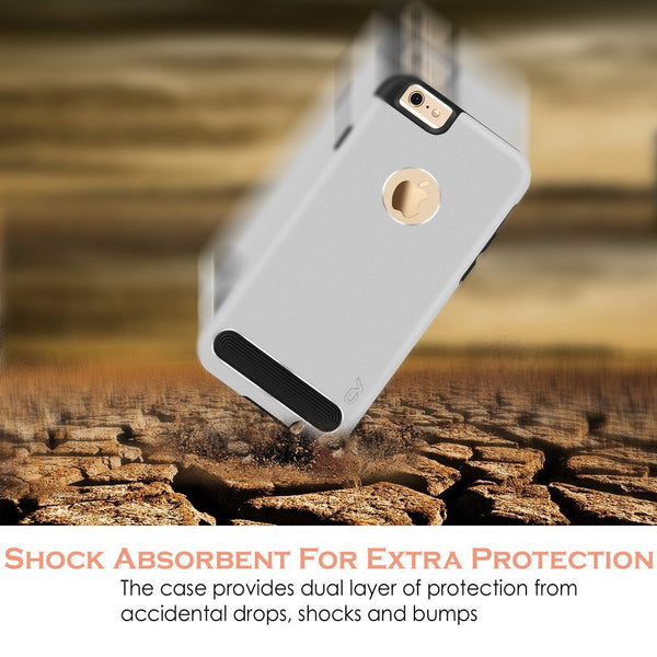 iPhone 6 Plus / 6S Plus case, Cellularvilla [Slim Fit] Hybrid Soft [Shockproof] Metal Aluminum Back Protective Shell Case Cover for Apple iPhone 6 Plus / iPhone 6S Plus 5.5 inch