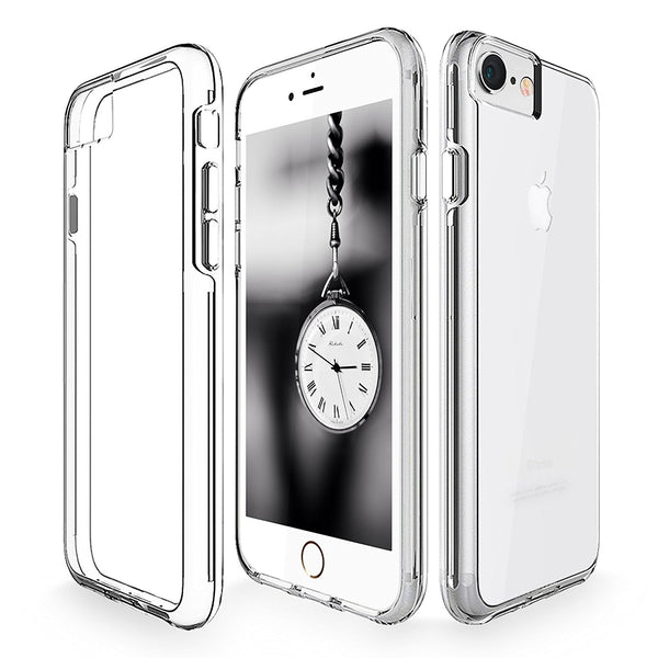 iPhone 7 Case, Cellularvilla [Slim Fit] [Raised Bezels] Ultra Hybrid Hard Anti-Scratch Transparent Back Protective Case with Shockproof Soft TPU Bumper Cover For Apple iPhone 7 (4.7 Inch)