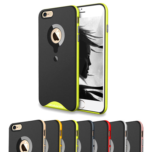iPhone 6 Case, iPhone 6S Case, Cellularvilla [Matte Finish] [Dual Layer] Hybrid Hard Bumper Case [Armor] [Shock Absorbent] Rubber Soft TPU Back Cover for Apple iPhone 6 / 6S 4.7 inch