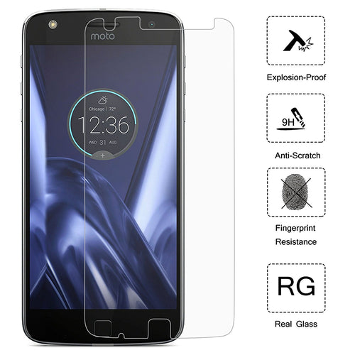 Moto Z Play Droid Screen Protector, (2 Pack) Cellularvilla [Scratch Resistant] Premium [Ultra Clear] 2.5D Curved Tempered Glass Screen Guard Protector For Motorola Moto Z Play / Moto Z Play Droid