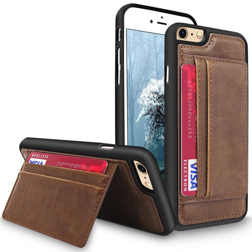 iPhone 6 Case / iPhone 6S Case, Cellularvilla [Slim Fit] Premium Pu Leather Wallet Back Case Credit Card Slots with Stand Feature Protective Cover For Apple iPhone 6 / 6S 4.7 inch