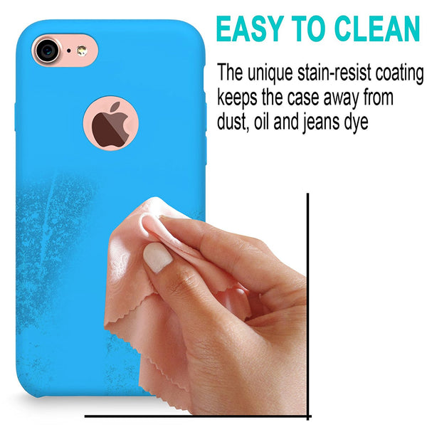 iPhone 7 Case, Cellularvilla [Slim Fit] Premium Liquid Silicone Protective Case with Soft Microfiber Cloth Cushion [Good Grip] Hybrid Shockproof Back Cover For Apple iPhone 7 4.7 Inch