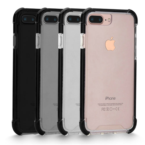 iPhone 7 Plus Case, Cellularvilla [Air Cushion] Hybrid Hard Anti-Scratch Transparent Clear Back Protective Case with Shockproof Soft TPU Bumper Cover For Apple iPhone 7 Plus 5.5 Inch (Clear/Black)