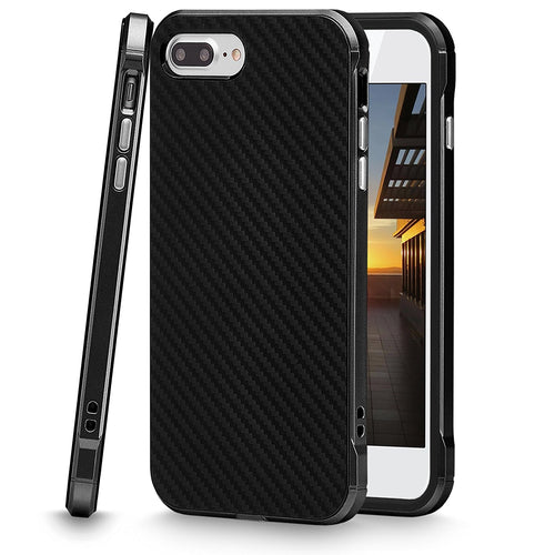 iPhone 7 Plus Case, Cellularvilla [Ultra Slim] [Hybrid] Carbon Fiber Flexible Soft TPU Back Protective Case [Shockproof] Hard PC Bumper Cover For Apple iPhone 7 Plus 5.5 Inch