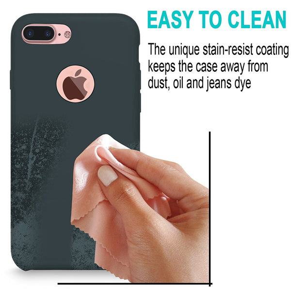 iPhone 7 Plus Case, Cellularvilla [Slim Fit] Liquid Silicone Protective Case with Soft Microfiber Cloth Cushion [Good Grip] Hybrid Shockproof Back Cover For Apple iPhone 7 Plus 5.5 Inch