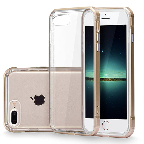 iPhone 7 Plus Case, Cellularvilla [Ultra Slim] [Hybrid] Crystal Clear Dotted Soft TPU Back Protective Case [Shockproof] Hard PC Bumper Cover For Apple iPhone 7 Plus 5.5 Inch