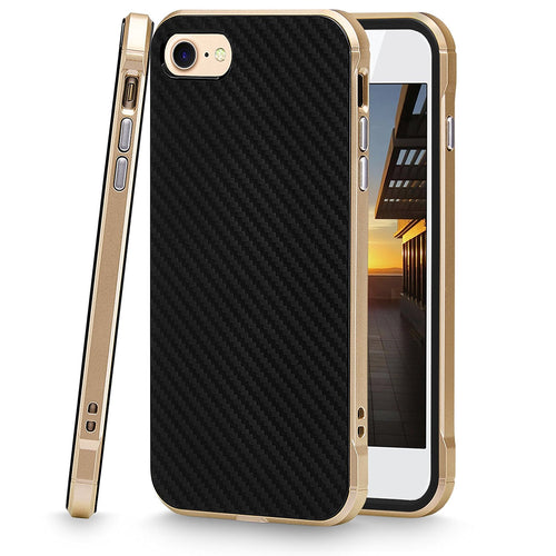 iPhone 7 Case, Cellularvilla [Ultra Slim] [Hybrid] Carbon Fiber Flexible Soft TPU Back Protective Case [Shockproof] Hard PC Bumper Cover For Apple iPhone 7 4.7 Inch