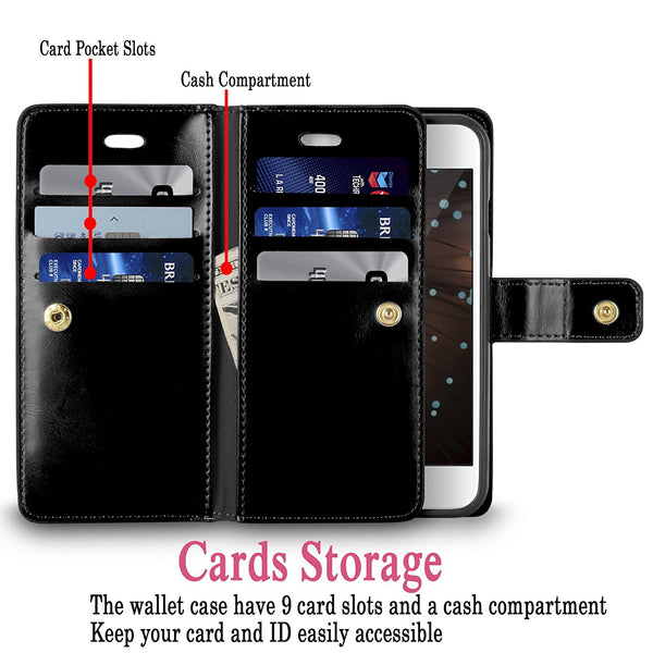 iPhone 6 Case / iPhone 6S Case, Cellularvilla [Slim Fit] Premium PU Leather Flip Wallet Case [Card Slot] [Pocket] Diary Style Folio Protective Shell Cover For Apple iPhone 6 / 6S 4.7 Inch