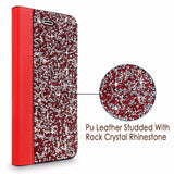 iPhone 6 Case, iPhone 6S Case, Cellularvilla Luxury Rock Crystal Rhinestone PU Leather Diamond Wallet Case [Card Slots] Flip Stand Protective Cover For Apple iPhone 6 / 6S 4.7 inch