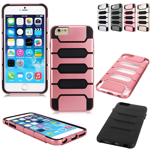 "Cellularvilla Case for Apple iPhone 6 Plus 5.5"" inch Hard Soft Slim 2pc Hybrid Armor Combo Case Cover Pouch"