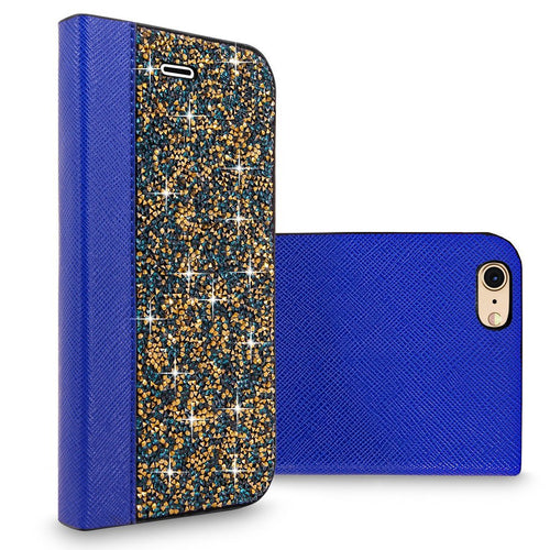 iPhone 6 Plus / 6S Plus Case, Cellularvilla [Card Slots] Luxury Rock Crystal Rhinestone PU Leather Diamond Wallet Case Flip Cover For Apple iPhone 6 Plus / iPhone 6S Plus 5.5 inch
