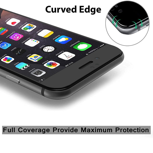 iPhone 7 Plus Screen Protector, Cellularvilla 3D Full Screen Tempered Glass Protector with Curved Edge [Anti Scratch] Cover Edge to Edge Glass Screen Guard For Apple iPhone 7 Plus 5.5 Inch