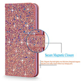 iPhone 7 Plus Case, Cellularvilla [Bling] Luxury Multi Tonal Glitter PU Leather Wallet Case [Card Slot] Flip Protective Stand Cover for Apple iPhone 7 Plus 5.5 Inch