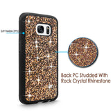 S7 Edge Case, Galaxy S7 Edge case, Cellularvilla [Bling] Hybrid Dual Layer Luxury Jewel Rock Crystal Rhinestone Diamond Shell Hard Protective Case Cover for Samsung Galaxy S7 Edge