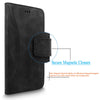 For Apple iPhone 6 / 6S 4.7 inch Genuine Leather Flip Stand Card Slots Wallet Case Cover