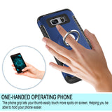 Samsung Galaxy S7 Dual Layer Case Built-in Rotating Ring Holder Kickstand Cover