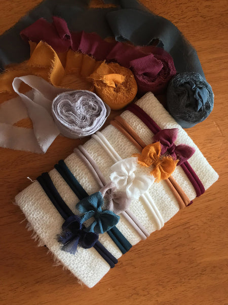6pc Fall Bow Headband gift set