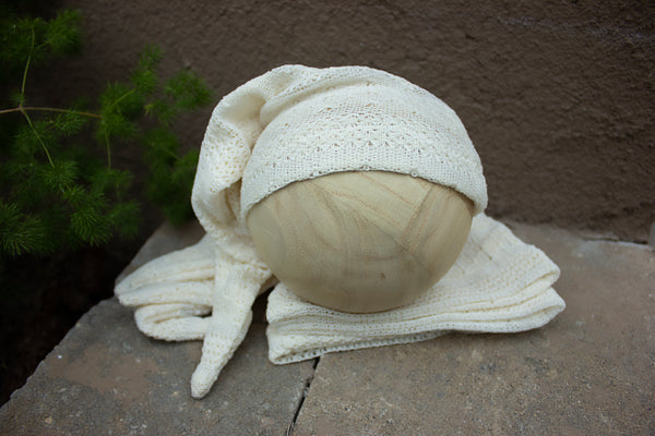 cotton cream texture sleepy hat
