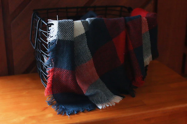 plaid fringe layers (all styles) CLEARANCE