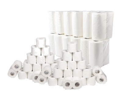 54 Toilet Rolls & 24 Kitchen Rolls (2ply)