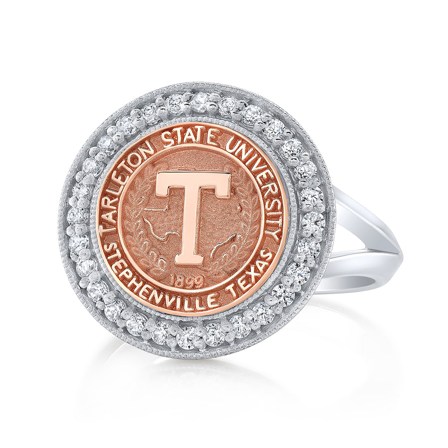 the Pursuit 234 university collection ring by San Jose Jewelers in 12 mm.