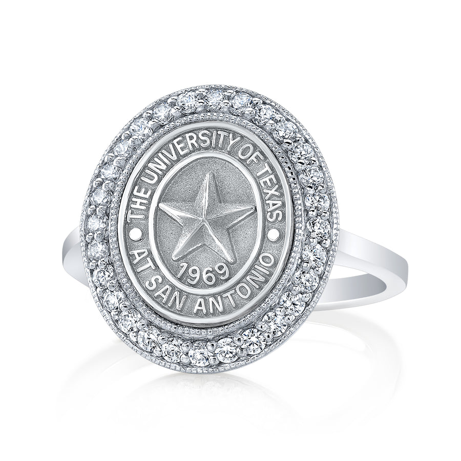 the Pursuit 234 university collection ring by San Jose Jewelers in 12x10 mm.