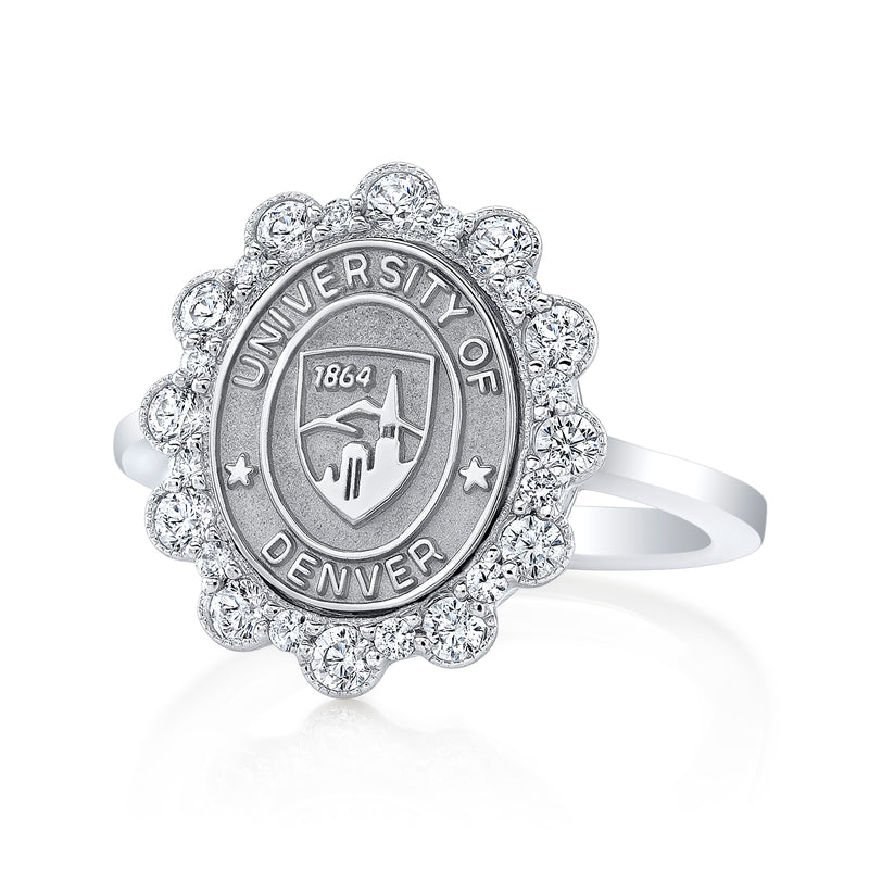 The Blossom 313 university seal ring by San Jose Jewelers.