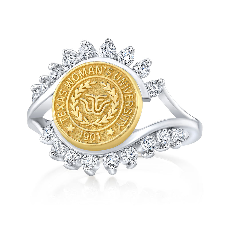 The Fierce 71 university seal ring by San Jose Jewelers.