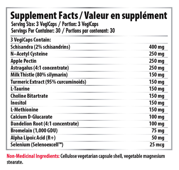 Pro Line Liver Rehab Supplement Facts