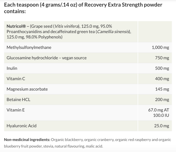Purica Recovery Extra Strength Powder 150g