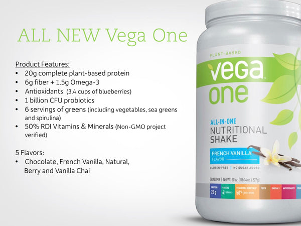 vega one nutritional shake information ingredients