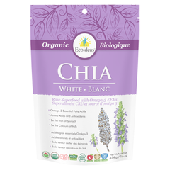 Ecoideas Organic Raw White Chia Seeds