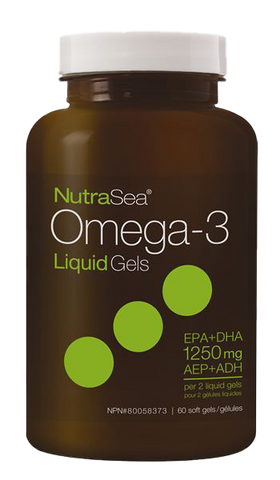Ascenta NutraSea Omega-3 Liquid Gels Fresh Mint 60 softgels