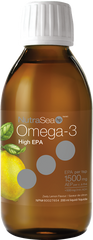Ascenta NutraSea HIGH EPA Omega 3 Liquid Lemon | Omega 3 Fish Oil EPA / DHA | Ascenta