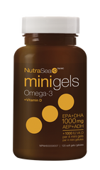 Ascenta NutraSea + D Mini Softgels | Omega 3 Fish Oil EPA / DHA | Ascenta