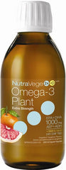 Ascenta|  NutraVege Omega-3 +D Plant Based Extra Strength Grapefruit Tangerine | 200ml