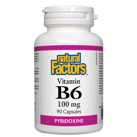 Natural Factors B6 Pyridoxine 100mg 90 tablets