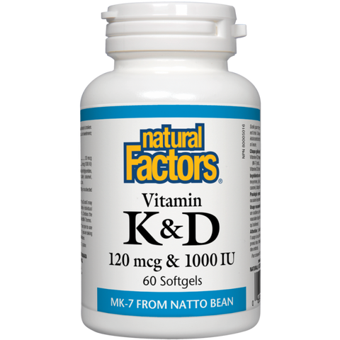 Natural Factors Vitamin K & D 60 softgels