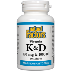 Natural Factors Vitamin K & D | Bone & Osteoporosis | Natural Factors